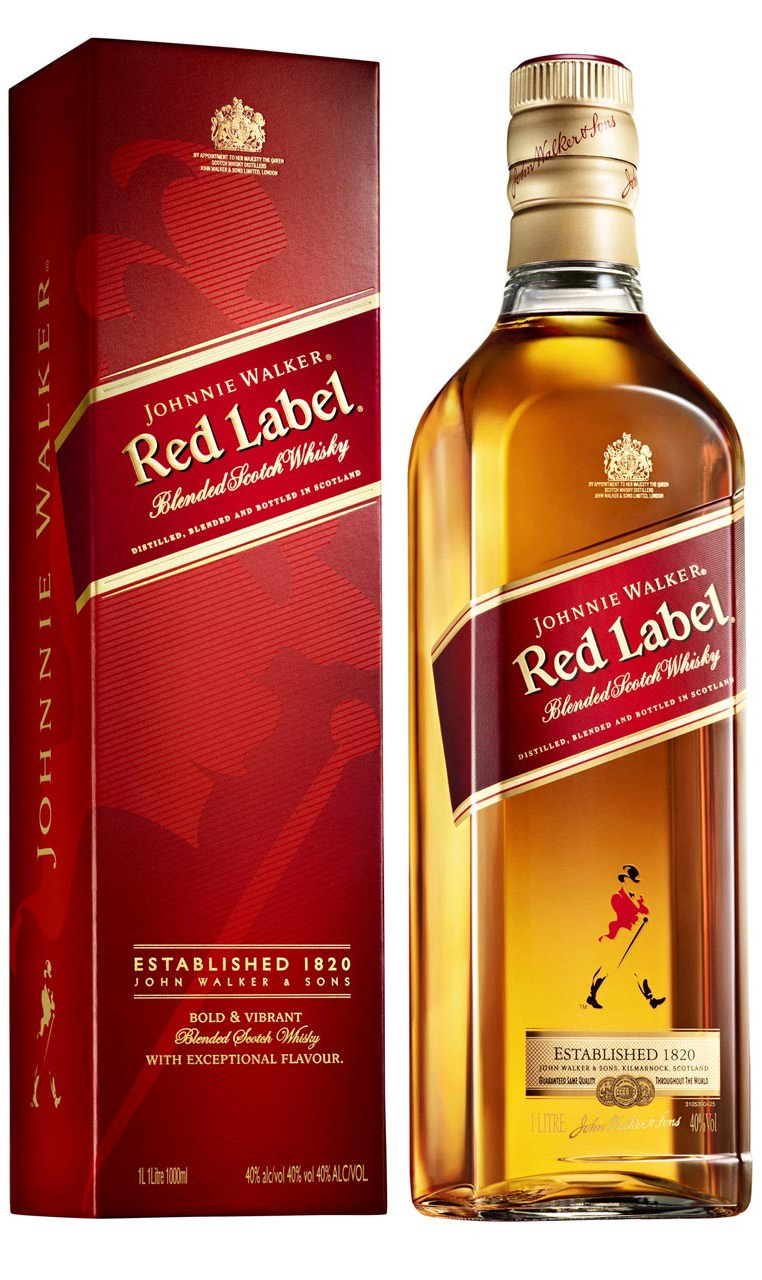It is a photo of Breathtaking Johnnie Walker Red Label 1l Price in India